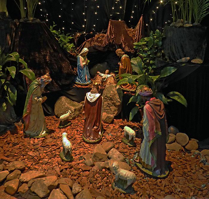 Foto van kerststal