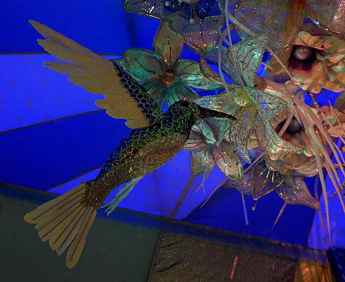 Foto van versiering met kolibrie
