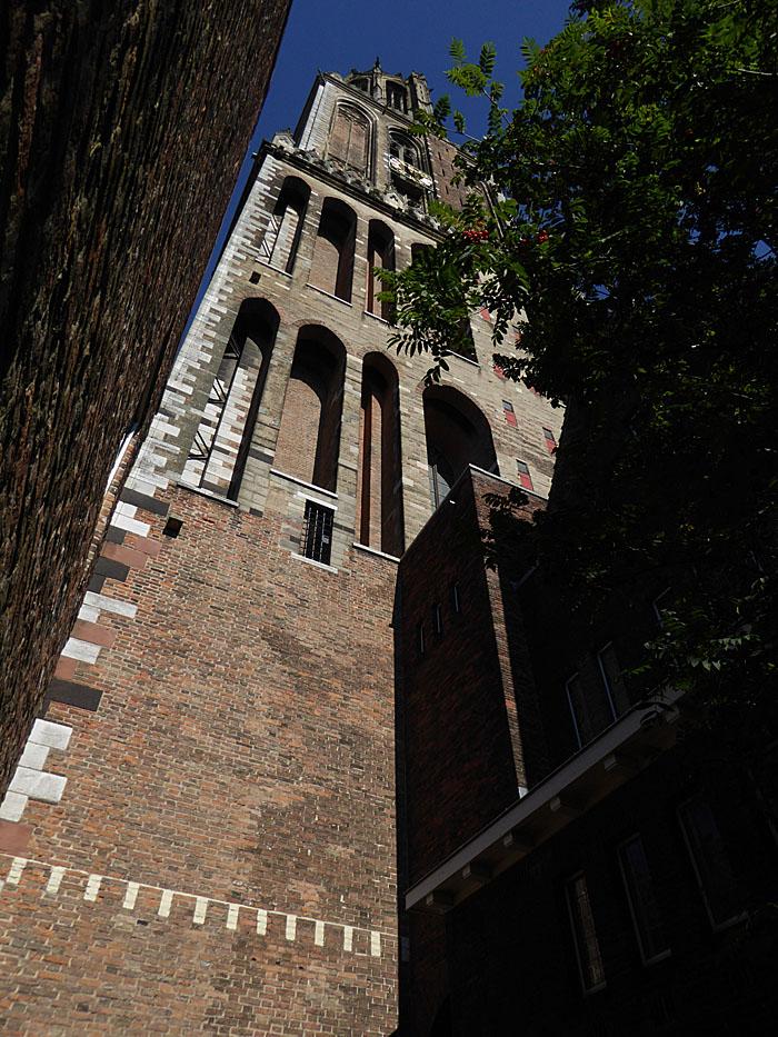 Foto van de Dom genomen vanaf de voet van de toren