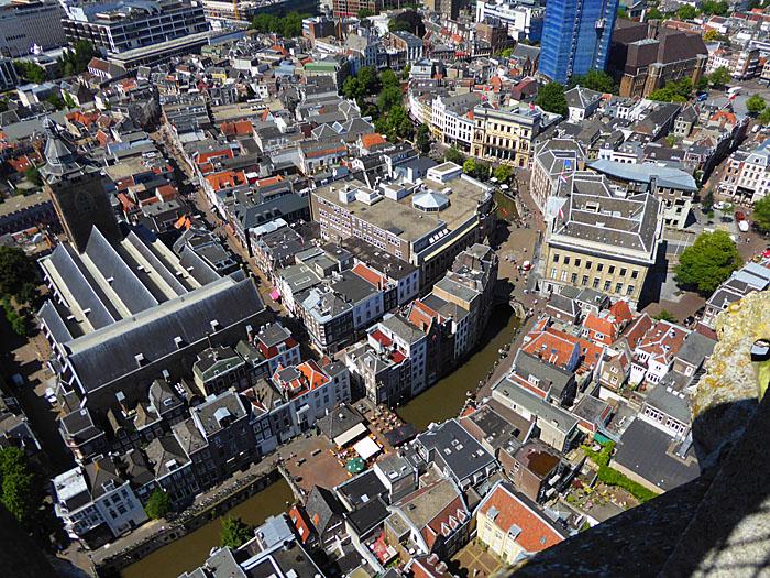 Foto van Oudegracht van boven gezien
