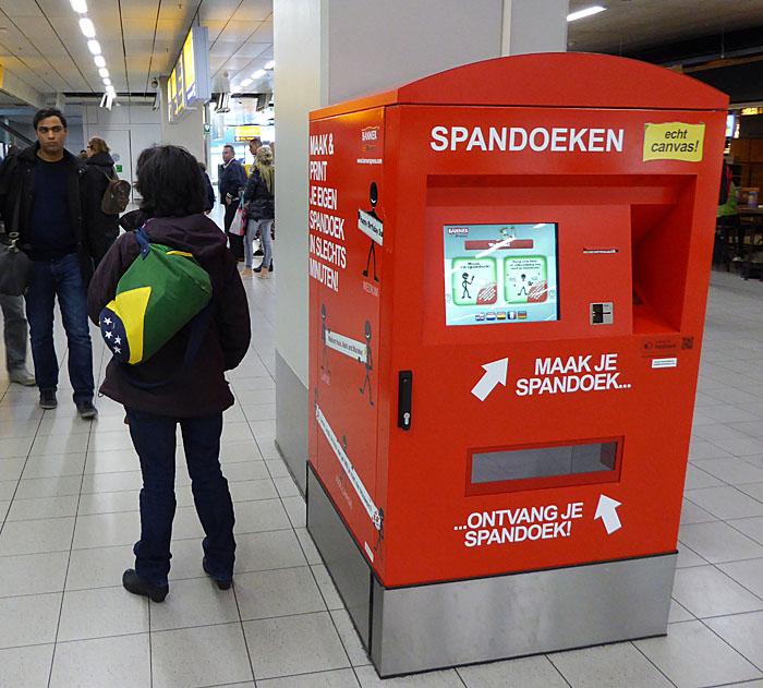 Foto van spandoekautomaat