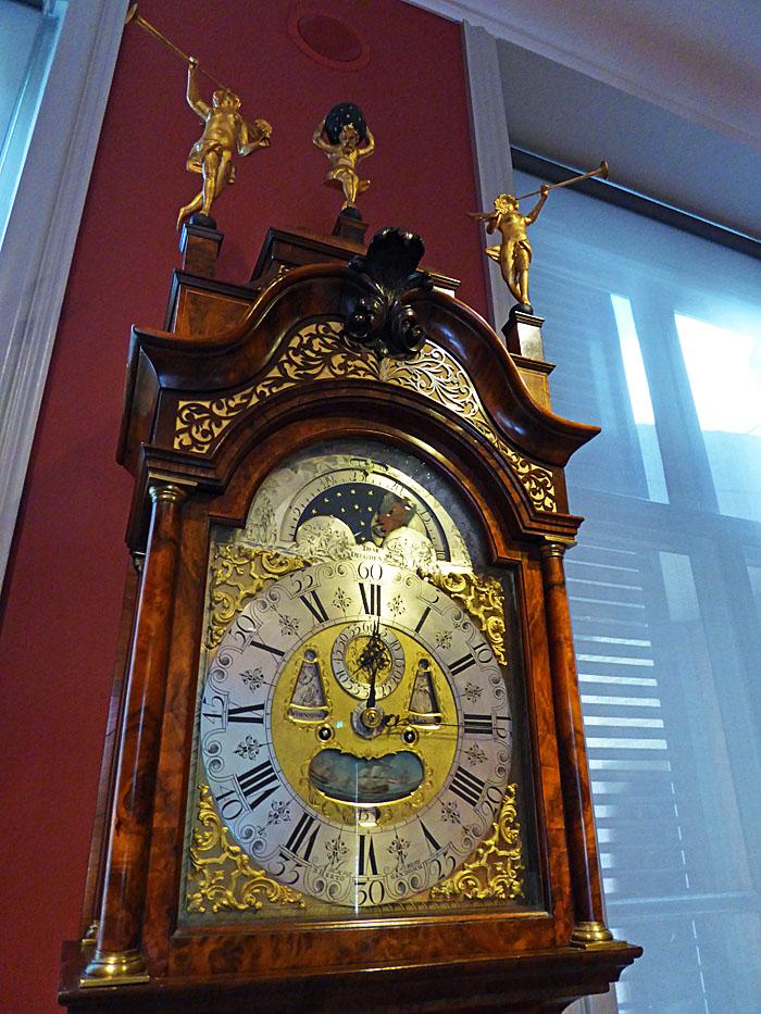 Foto van oude staande klok