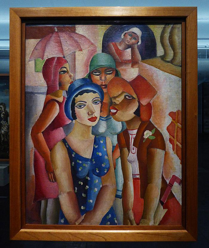 Foto van kleurig schilderij