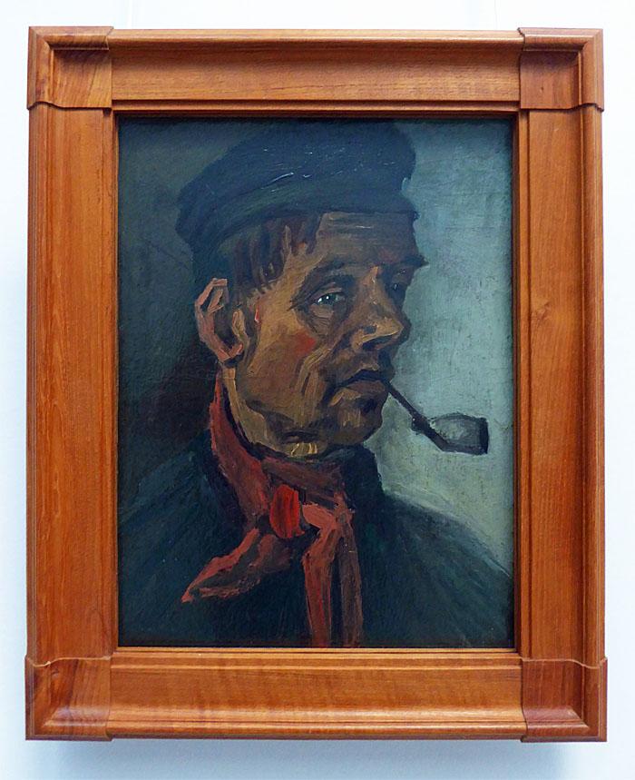 Foto van schilderij van man met pijp