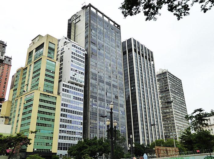 Foto van hoge gebouwen