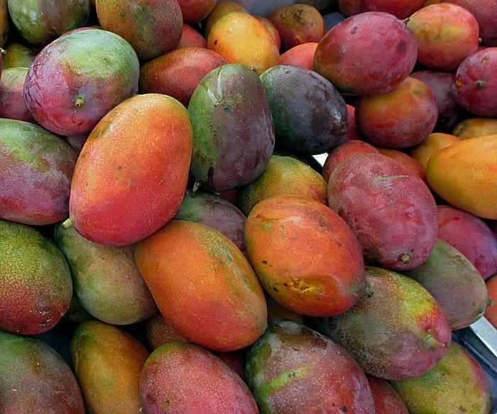 Foto van stapel mango's