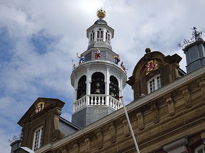 Foto van klokketoren stadhuis