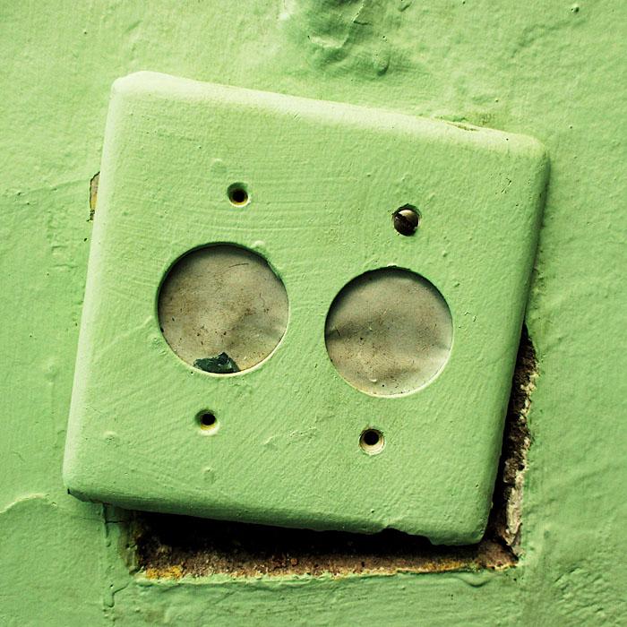 Foto van gedeactiveerd stopcontact