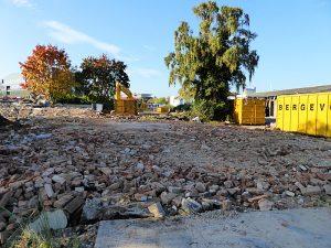 Foto van afgebroken huis