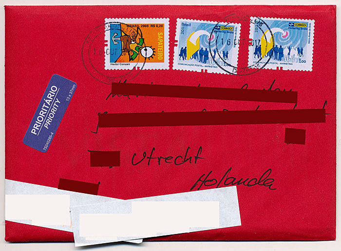 Foto van rode envelop