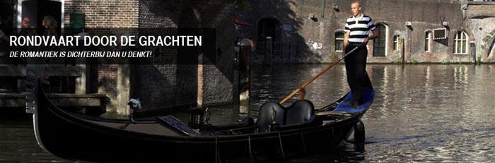 Foto van gondel in Utrechtse gracht