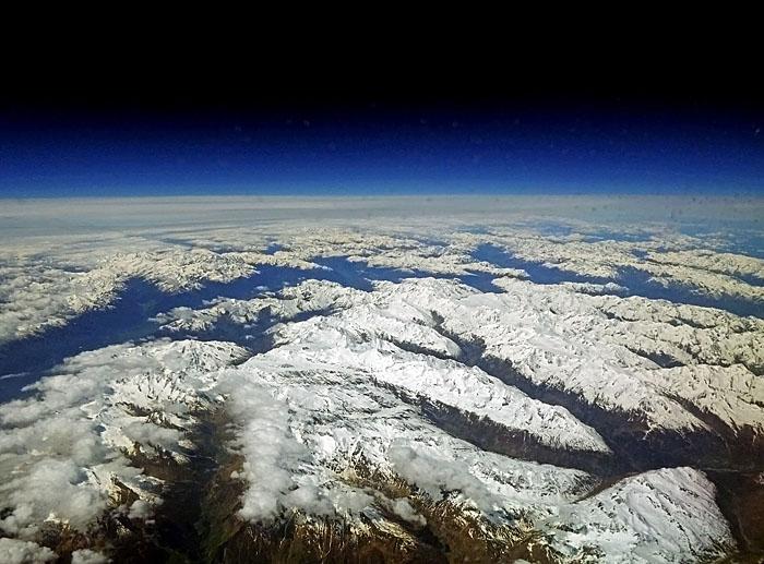 Luchtfoto van de Alpen