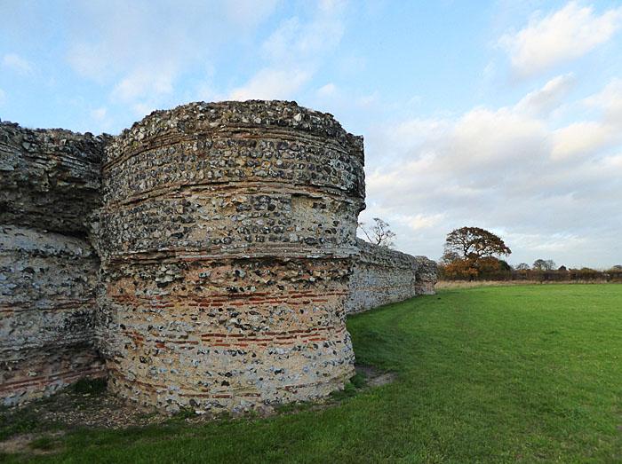Foto van Romeinse muur