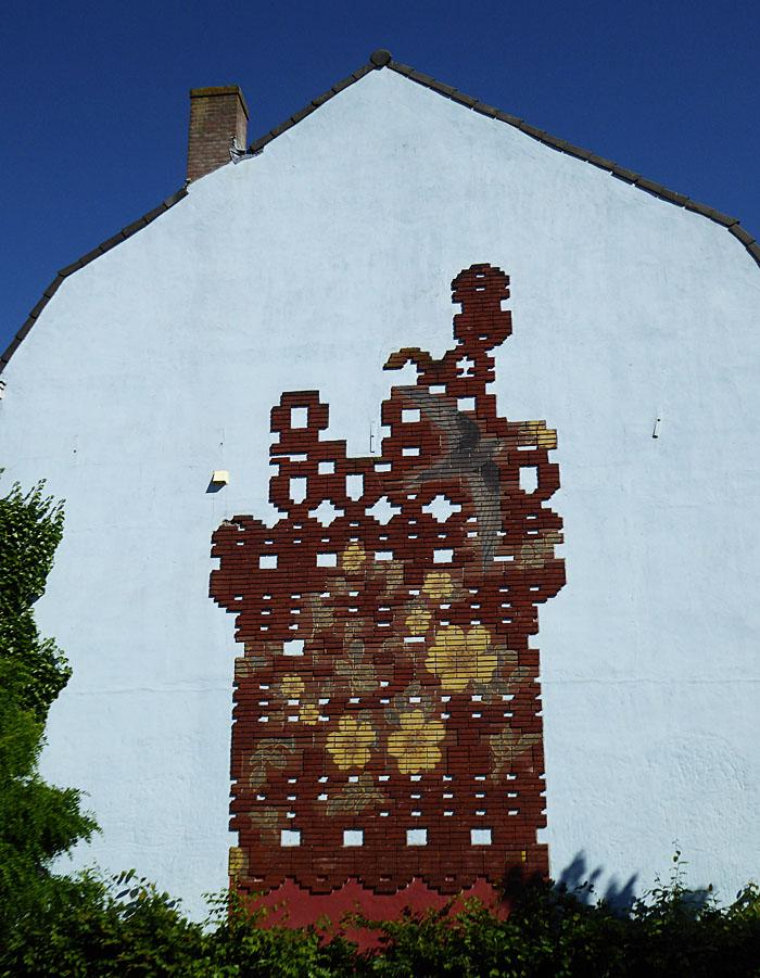 Foto van versiering op muur
