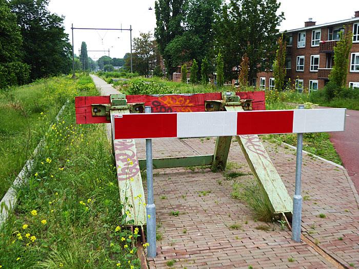 Foto van reflecterend hekje voor stootblok