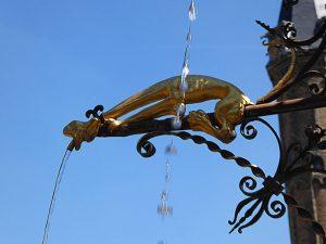 Foto van detail van fontein