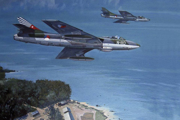 Afbeelding van Hawker Hunter vliegtuigen