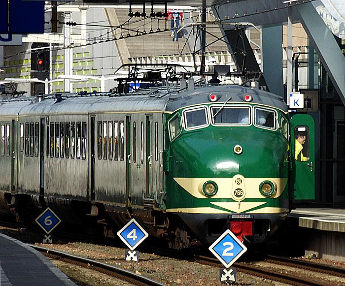 Foto van groene trein