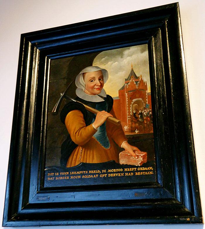 Foto van schilderij van vrouw