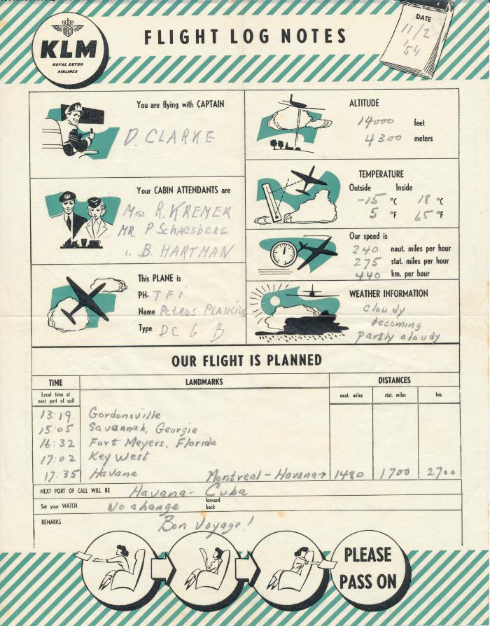 Scan van flight log voor passagiers