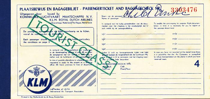 Scan van ticket