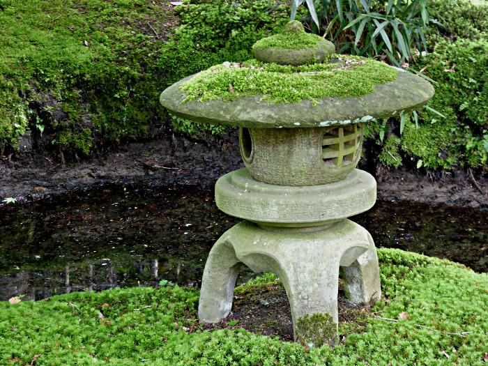 Foto van decoratie in tuin