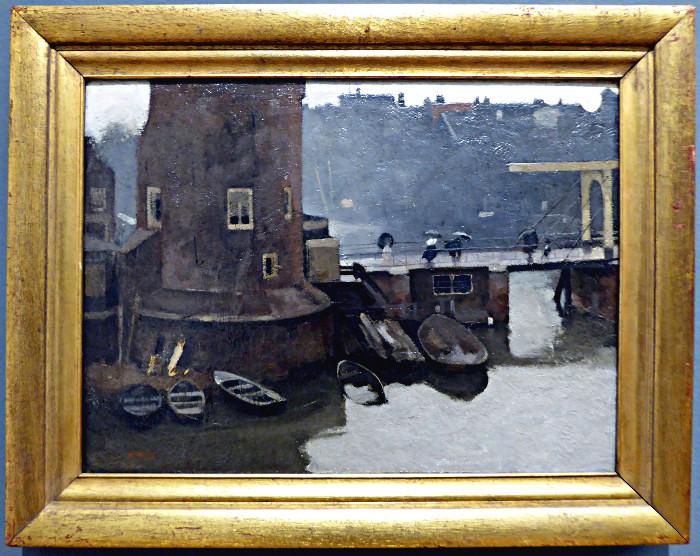 Foto van schilderij van Montelbaanstoren