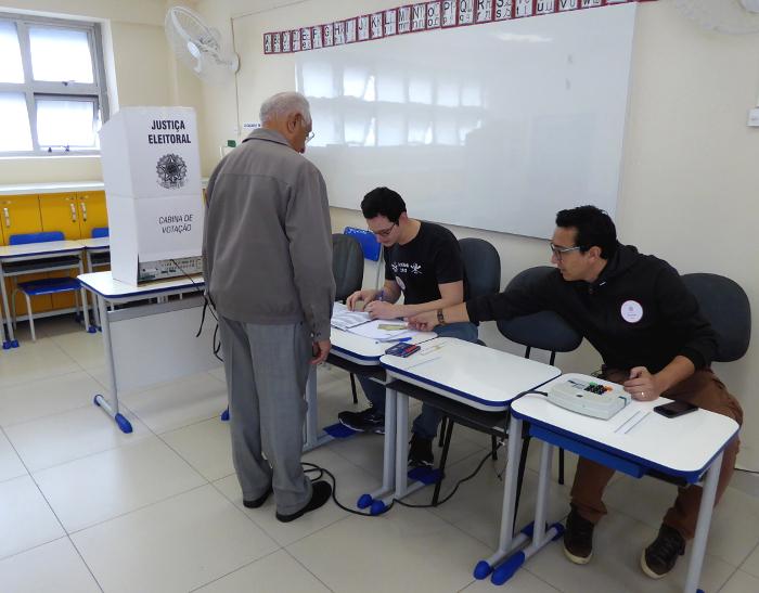Foto van stemlokaal