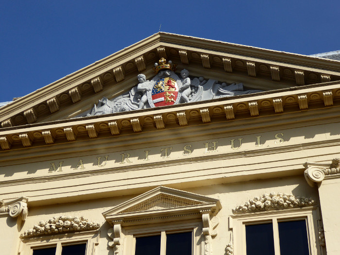 Foto van deel gevel Mauritshuis