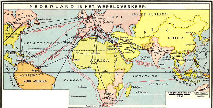 Scan van kaart uit atlas