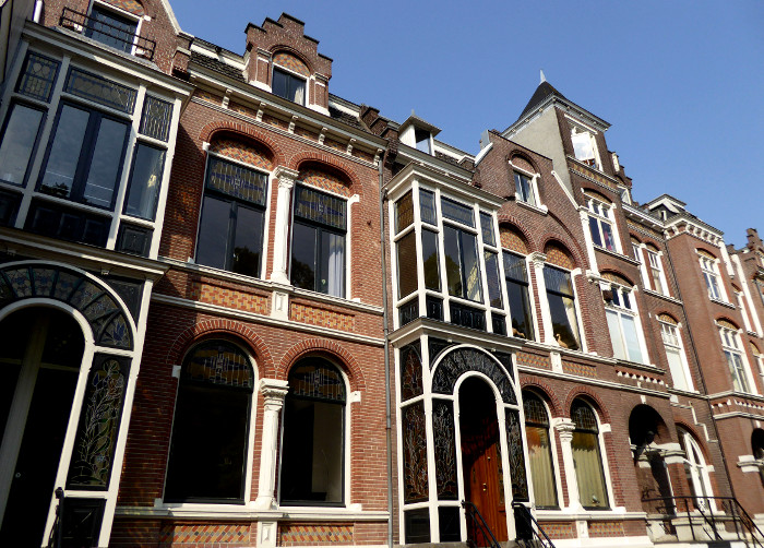 Foto van hoge huizen