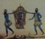 Afbeelding van slaven met daagstoel