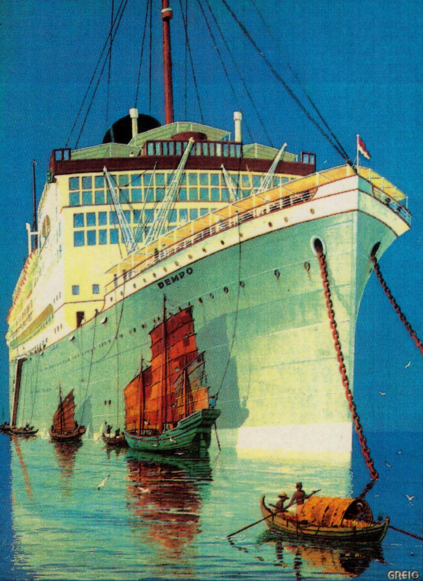 Poster van passagiersschip