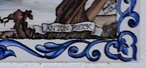 Foto van de signatuur van Anton Pieck