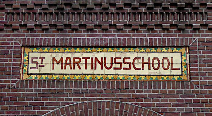 Foto van tegeltableau 'St Martinusschool'