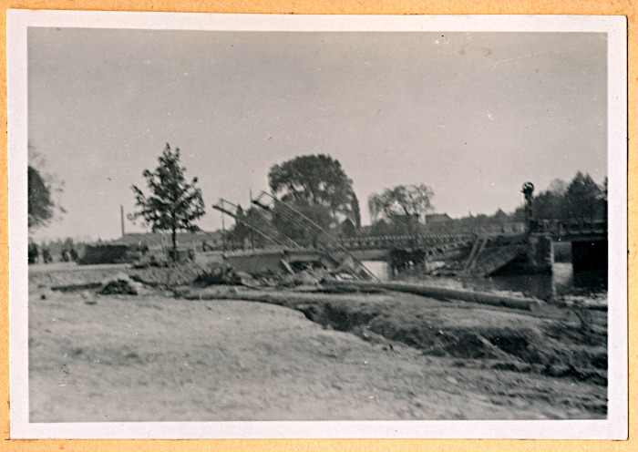 Foto van kapotte brug