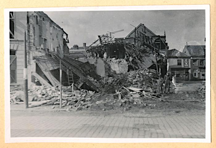 Foto van verwoeste panden