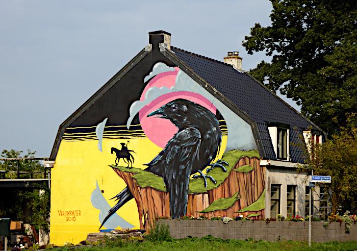 Foto van muurschildering