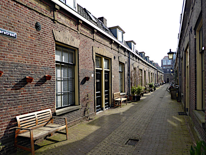 Foto van smal straatje