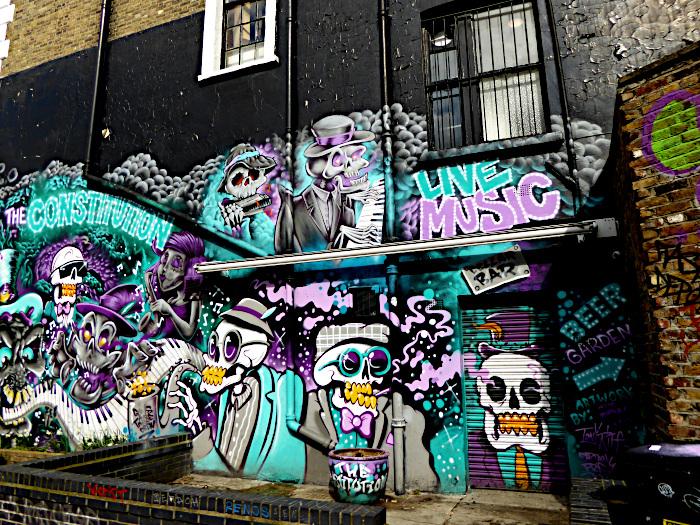 Foto van gevel met graffiti