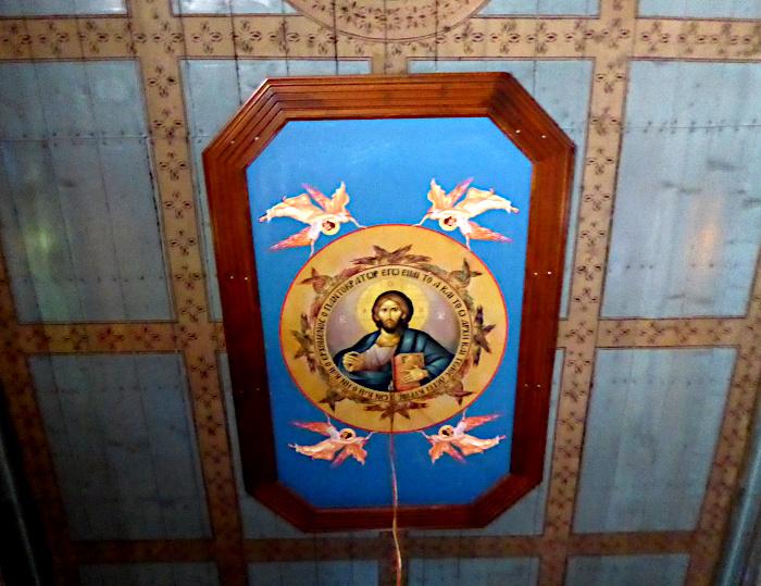 Foto van heilige op plafond