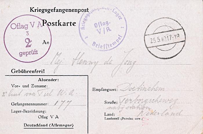 Foto van voorkant briefkaart