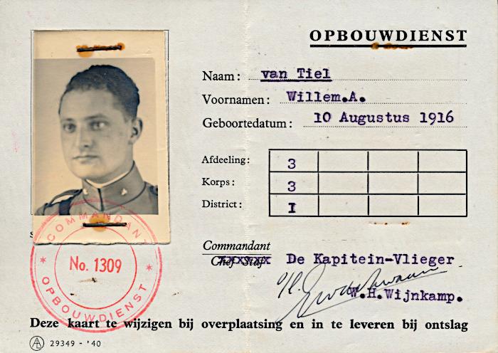Foto van id-kaart opbouwdienst
