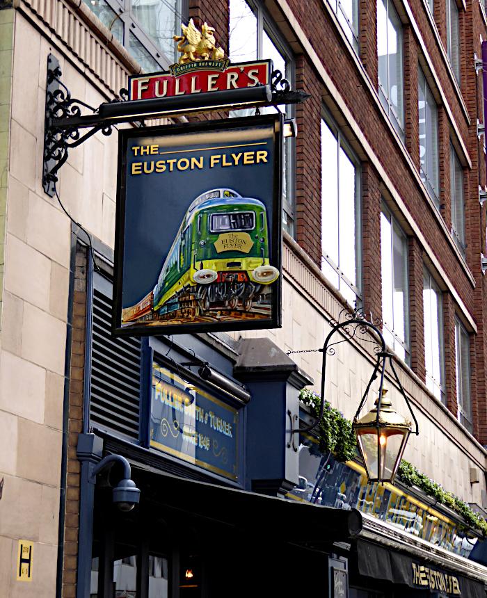 Foto van uithangbord van pub
