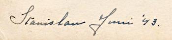 Tekst achterkant foto: Stanislau juni '43