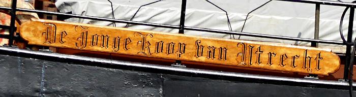 Foto van naambord van boot