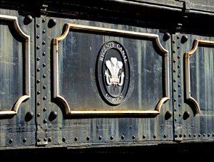 Foto van wapen op brug