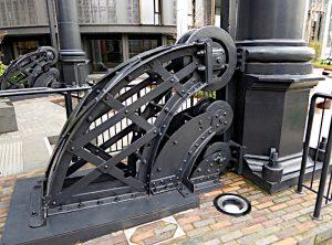 Foto van stalen wiel en rail