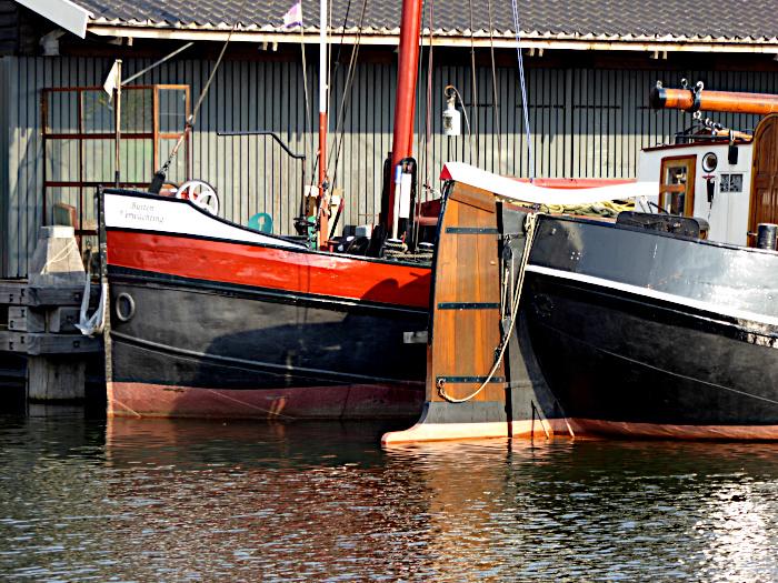 Foto van aangemaarde boten (detail)