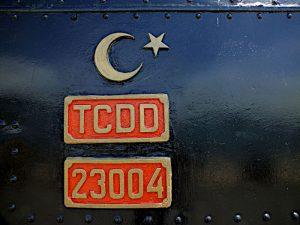 Foto van insigne en identificatie van locomotief